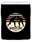 Wrestling Art Duvet Cover