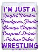 Wrestling Singlet Washin Mom Purple Gift Dark Duvet Cover