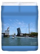 Wrightsville Beach Bridge In North Carolina Duvet Cover