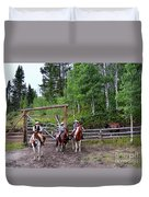 Wyoming Cowgirl Trio Duvet Cover