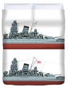 Yamato Class Battleships Port Side Duvet Cover