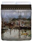 Yaquina Bay Kayaking Duvet Cover by Thom Zehrfeld