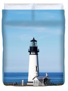 Yaquina Head Lighthouse 101618 Duvet Cover