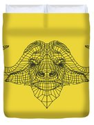 Yellow Buffalo Duvet Cover