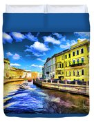 Yellow Canal Duvet Cover