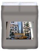 Yellow Graffiti Truck Downtown La Duvet Cover