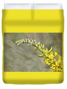 Yellow Lupine Duvet Cover by Carolyn Marshall