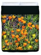 Yellow Poppies Of California Duvet Cover
