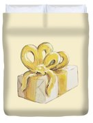 Yellow Present Duvet Cover