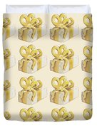 Yellow Presents Pattern Duvet Cover