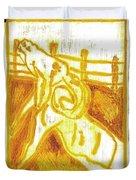 Yellow Ram Duvet Cover