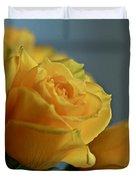 Yellow Roses Duvet Cover by Ann E Robson