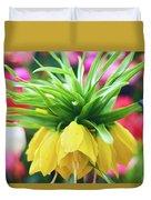Yellow Tulip Close Up Duvet Cover