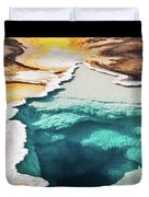 Yellowstone Hot Springs Triptych Duvet Cover