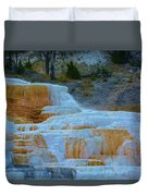 Yellowstone Mineral Deposits Duvet Cover