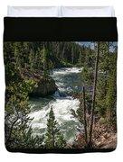 Yellowstone Rapids Duvet Cover