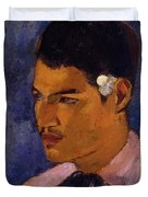 Young Man With A Flower Behind His Ear 1891 Duvet Cover