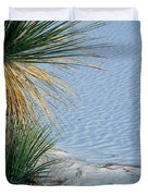 Yucca Plant In Rippled Sand Dunes In White Sands National Monument, New Mexico - Newm500 00113 Duvet Cover
