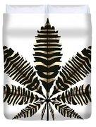 Zebra Pattern Marijuana Leaf 2 Duvet Cover