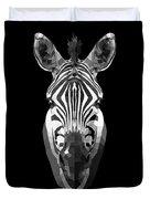 Zebra's Face Duvet Cover
