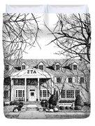 Zeta Tau Alpha Sorority House, Purdue University, West Lafayette, Indiana, Fine Art Print Duvet Cover