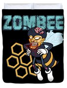 Zombee Zombie Bee Halloween For Beekeeper Apiarist Dark Light Duvet Cover