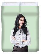 Zombie Businesswoman Duvet Cover