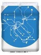 Zurich Blue Subway Map Duvet Cover