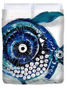 Enter The Icehole Fish Duvet Cover