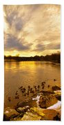 Androscoggin River Between Lewiston And Auburn Bath Towel