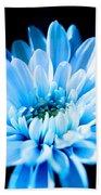 Blue Chrysanthemum Bath Towel