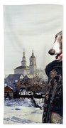 Borzoi - Russian Wolfhound Art Canvas Print Hand Towel