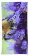 Bumblebee On Buddleja Bath Towel