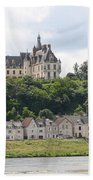 Chateau De Chaumont Stands Above The River Loire Bath Towel