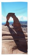 Delicate Arch And Shadow Bath Towel