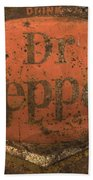 Dr Pepper Vintage Sign Bath Towel