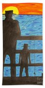 Father And Son Fishing Hand Towel