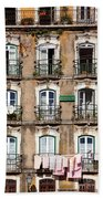 Lisbon - 18th Century Facade  Bath Towel