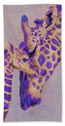 Loving Purple Giraffes Bath Towel