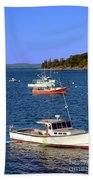 Maine Lobster Boat Bath Towel