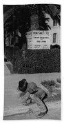 Man From Monterey Homage 1933 Sleeping Cowboy Tucson Arizona 1984 Bath Towel