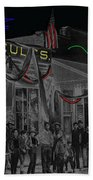 'neath Arizona Skies Homage 1934 California Powder Works  Congress Street Tucson Az Ca.1900 Bath Towel