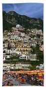 Positano Crowded Beach Bath Towel