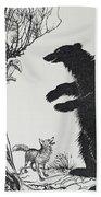 The Bear And The Fox Bath Towel