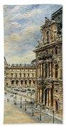 The Louvre Museum Bath Towel