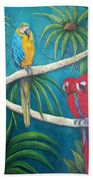 Three Is A Crowd,macaws Bath Towel
