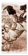 Thumbelina Rose - Miniature Rose - Digital Paint II Bath Towel