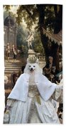 Volpino Italiano Art Canvas Print Bath Towel