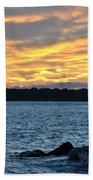 001 Awe In One Sunset Series At Erie Basin Marina Bath Towel