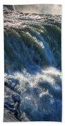 0010 Niagara Falls Winter Wonderland Series Bath Towel